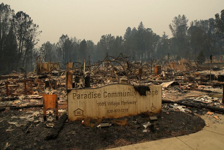 The scorched remnants of Paradise,