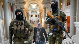 Masked Gun Rights Activists Carrying Semi-Automatic Weapons Rally Inside Government